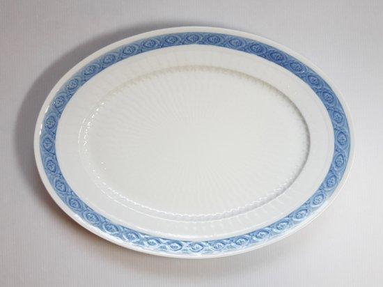 ロイヤルコペンハーゲン プレート■ブルーファン オーバルプレート 1枚 大皿 楕円 レア Blue Fan 1級品 美品…