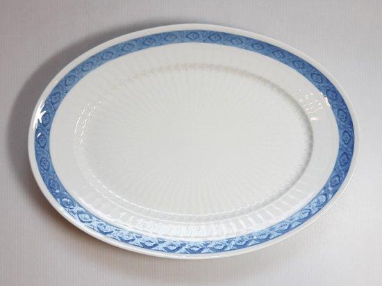 ロイヤルコペンハーゲン プレート■ブルーファン オーバルプレート 1枚 楕円 大皿 レア Blue Fan 1級品 美品…