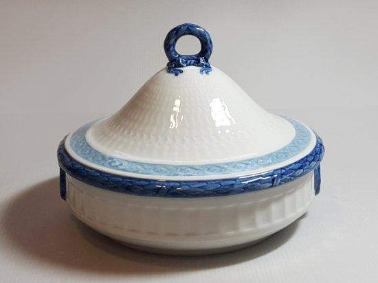 ロイヤルコペンハーゲン ボウル■ブルーファン 蓋つきベジタブルボウル 1個 レア Blue Fan 1級品 1