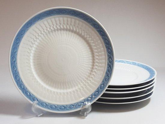 ロイヤルコペンハーゲン プレート■ブルーファン ディナープレート 6枚セット 大皿 レア Blue Fan 1級品 1