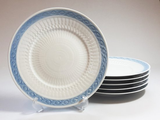 ロイヤルコペンハーゲン プレート■ブルーファン ディナープレート 6枚セット 大皿 レア Blue Fan 1級品 3