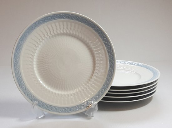 ロイヤルコペンハーゲン プレート■ブルーファン ランチプレート 6枚セット 皿 レア Blue Fan 1級品 2