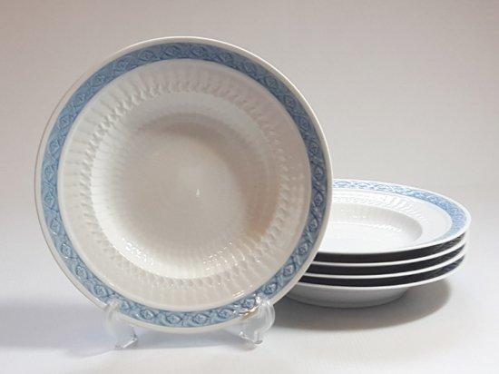 ロイヤルコペンハーゲン プレート■ブルーファン スーププレート 5枚セット 皿 レア Blue Fan 1級品 2