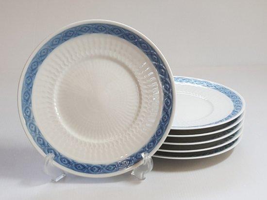ロイヤルコペンハーゲン プレート■ブルーファン サラダプレート 6枚セット 皿 レア Blue Fan 1級品 2