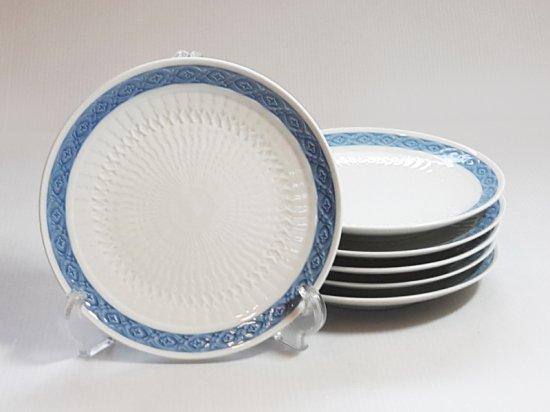 ロイヤルコペンハーゲン プレート■ブルーファン デザートプレート 6枚セット 皿 レア Blue Fan 1級品 2