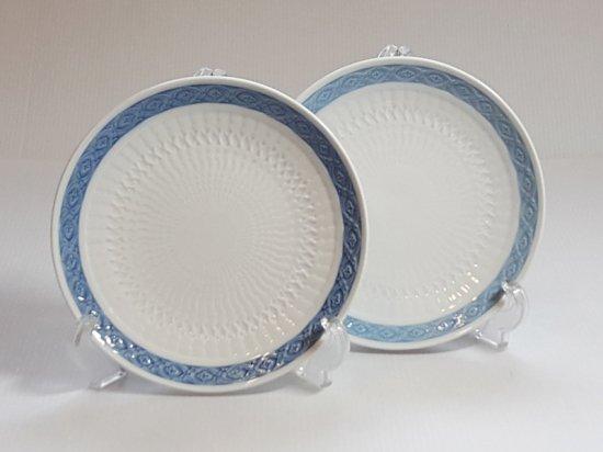 ロイヤルコペンハーゲン プレート■ブルーファン デザートプレート 2枚セット 皿 レア Blue Fan 1級品