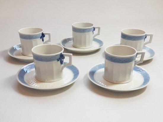 ロイヤルコペンハーゲン カップ&ソーサー■ブルーファン コーヒーC&S 5客セット レア Blue Fan 1級品