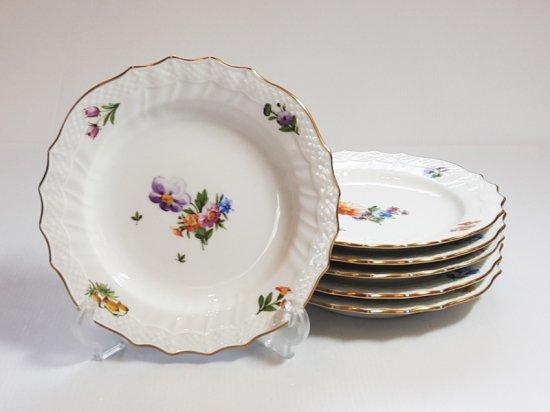 ロイヤルコペンハーゲン プレート■サクソンフラワー サラダプレート 皿 6枚 花 ブーケ 1級品