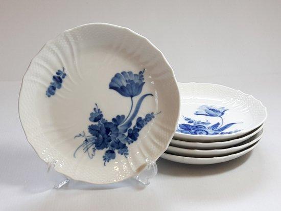 ロイヤルコペンハーゲン プレート■ブルーフラワーカーブ サラダプレート 皿 5枚セット 1級品