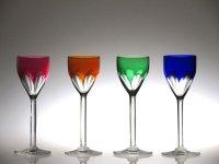 バカラ グラス ● ジェノバ リキュール グラス 4色 セット コーディアル 赤 橙 緑 青 ジェノヴァ Genova