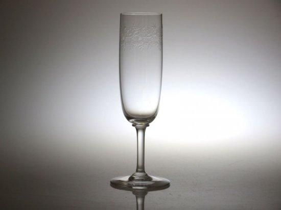 バカラ シャンパングラス ● セビーヌ シャンパンフルート エッチング Sevigne