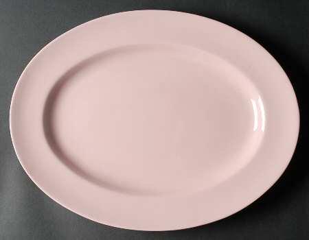 ウェッジウッド プレート アルパイン ピンク オーバル サービングプレート 38.5cm 大皿 楕円 Alpine Pink
