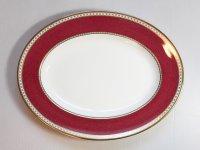 ウェッジウッド プレート■ユーランダー パウダー ルビー オーバルプレート 1枚 大皿 楕円 1級品