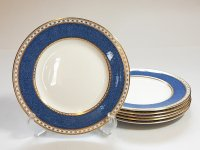 ウェッジウッド プレート■ユーランダーパウダー ブルー サラダプレート 6枚 皿 WEDGWOOD 1級品