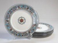 ウェッジウッド プレート■フロレンティーン ターコイズ ディナープレート 6枚 大皿 WEDGWOOD 1級品