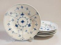 ビングオーグレンダール B&G プレート■ブルーフル—テッド スーププレート 皿 5枚セット 1級品 1