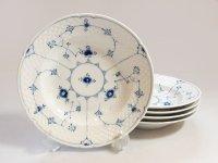 ビングオーグレンダール B&G プレート■ブルーフル—テッド スーププレート 皿 5枚セット 1級品 2