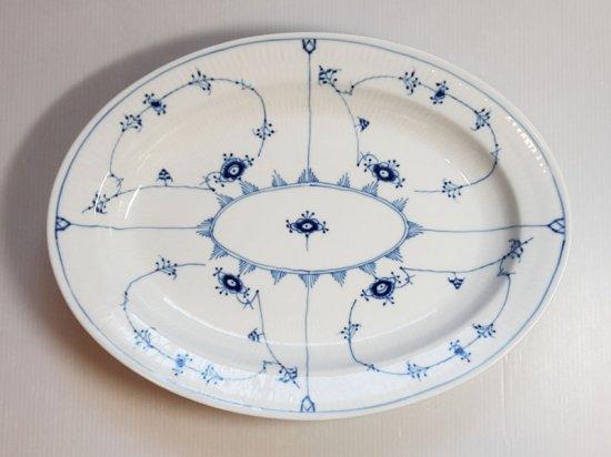ロイヤルコペンハーゲン プレート■ブルーフルーテッド プレインレース オーバルプレート 大皿 1枚 1級品 美品
