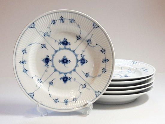 ロイヤルコペンハーゲン プレート■ブルーフルーテッド プレインレース ディナープレート 大皿 6枚セット 25.5cm 1級品