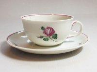 アウガルテン カップ&ソーサー■オールドウィンナーローズ ピンク C&S 1客 薔薇 花 1級品 美品 2