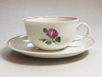 アウガルテン カップ&ソーサー■オールドウィンナーローズ ピンク C&S 1客 薔薇 花 1級品 美品 3