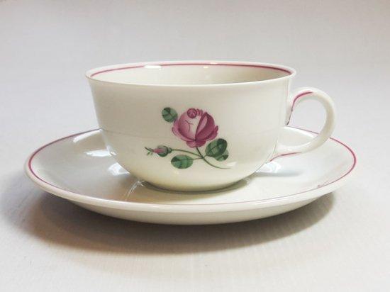 アウガルテン カップ&ソーサー■オールドウィンナーローズ ピンク C&S 1客 薔薇 花 1級品 美品 4