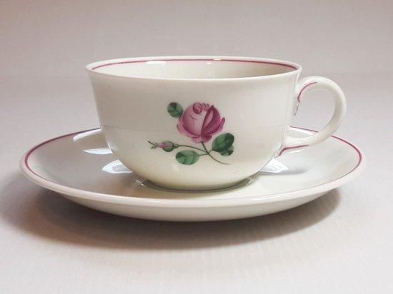 アウガルテン カップ&ソーサー■オールドウィンナーローズ ピンク C&S 1客 薔薇 花 1級品 美品 5