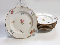 マイセン プレート■散らし小花 スキャタードフラワー デザートプレート 皿 6枚セット 1級品 美品