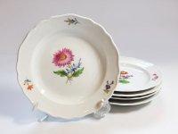 マイセン プレート■ベーシックフラワー ブーケ 二つ花 サラダプレート 皿 5枚セット Meissen 1級品 2