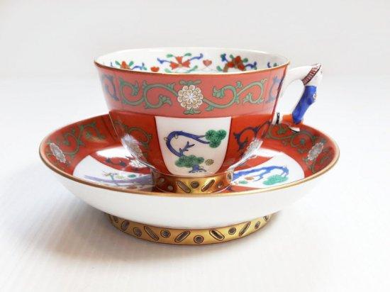 ヘレンド カップ&ソーサー■ゲデレ コーヒーC&S 1客 シノワズリ 西安の赤 1級品 美品