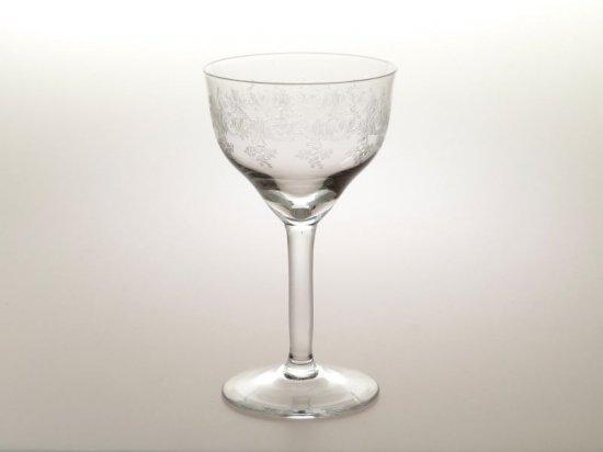 オールド バカラ グラス ● セビーヌ カクテル グラス 13cm エッチング ワイン セヴィーヌ アンティーク 希少 Sevigne
