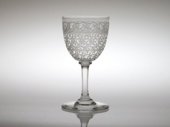 オールド バカラ グラス ● コンブール ローハン ワイン グラス 10.5cm アンティーク クリスタル Combourg
