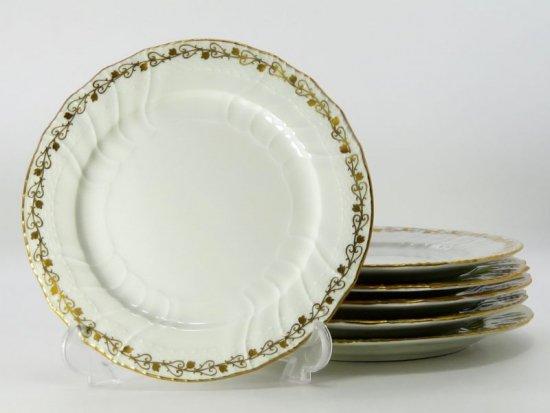 KPMベルリン プレート■ノイオジール Neuosier デザートプレート 皿 6枚セット ベルリン王立磁器製陶所 1級品