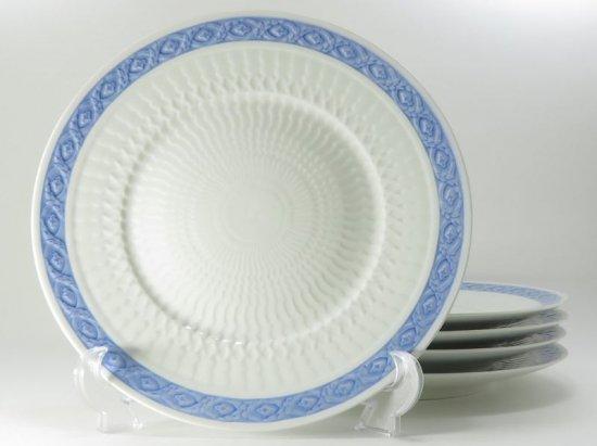ロイヤルコペンハーゲン プレート■ブルーファン ディナープレート 5枚セット 大皿 レア Blue Fan 1級品