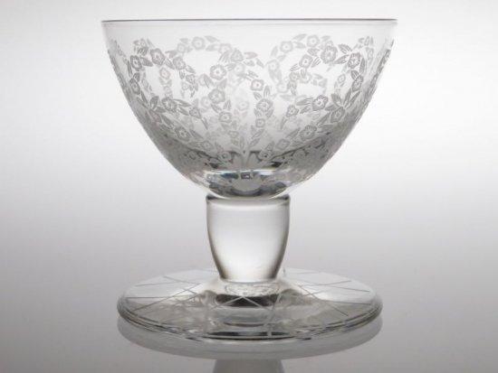バカラ グラス ● イスパハン ワイングラス 小 リキュール エッチング ヴィンテージ エスファハーン 6.5cm Ispahan
