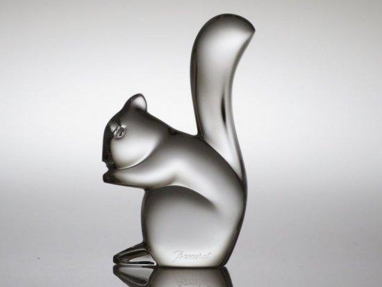 バカラ フィギュリン ● リス 置物 オーナメント クリスタル オブジェ Squirrel