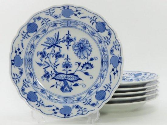 マイセン プレート■ブルーオニオン サラダプレート 皿 6枚セット Meissen 1級品