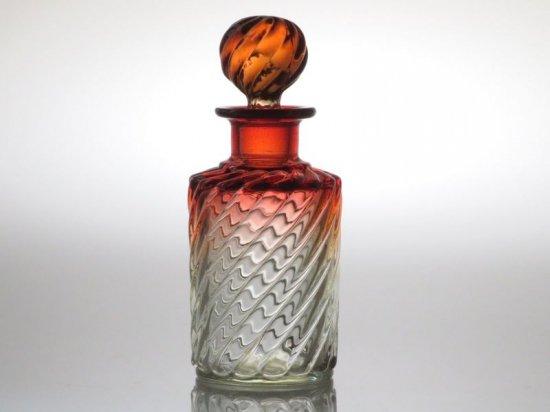 オールド バカラ 香水瓶 ● バンブーローズ パフュームボトル 円柱 15.5cm アンティーク 少し訳あり Bambou