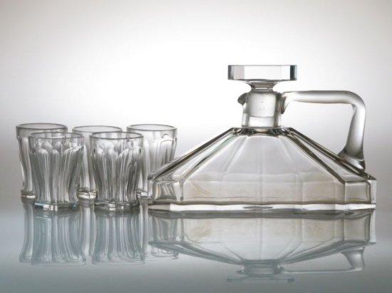 バカラ リキュール セット ● 珍しい形状 デキャンタ 14.5cm ミニタンブラー 7.5cm ショット グラス 6点セット 訳あり 希少 珍品