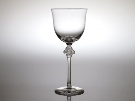 ラリック グラス ● ロクサーヌ ワイン グラス 17.5cm ぶどう 葡萄 天使 クリスタル 薄手 展示品 Roxanne