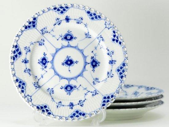 ロイヤルコペンハーゲン プレート■ブルーフルーテッド フルレース サラダプレート 皿 4枚セット 2