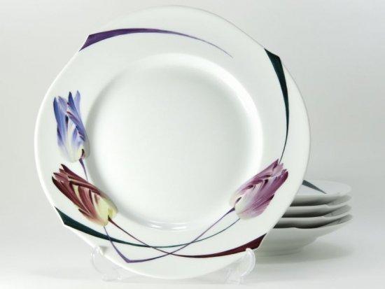 マイセン プレート■ユーゲント ランチプレート 5枚セット 皿 アールヌーヴォー 花 フラワー Meissen 1級品