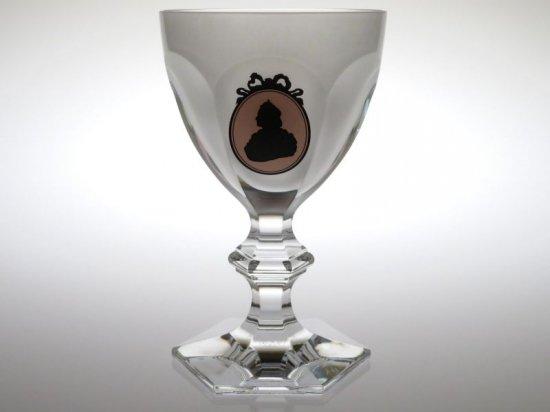 バカラ グラス ● アルクール パレロワイヤル ワイン グラス 13.5cm 170周年記念 ピンク フロステッド クリスタル Harcourt