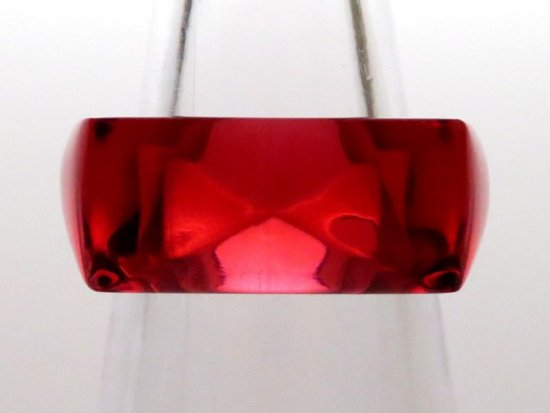 バカラ アクセサリー ● リング レッド ボルドー 指輪 赤色 スクエア 四角 クリスタル ビジュー ビジュウ 12号 袋付き