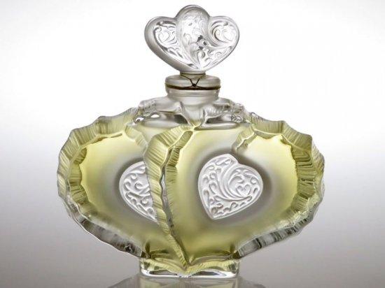 ラリック 香水瓶 ● 二つのハート パフュームボトル 心臓 コア 2004年 限定 未使用 Deuz Coeurs