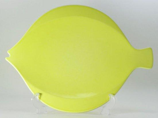 ロイヤルコペンハーゲン プレート■フィッシュ サービングプレート 黄色 イエロー 1枚 大皿 魚 fish FAJANCE 1級品