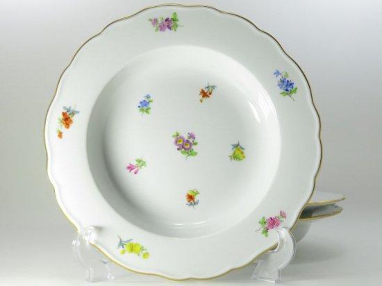 マイセン プレート■散らし小花 スキャタードフラワー スーププレート 深皿 ボウル 3枚セット Meissen