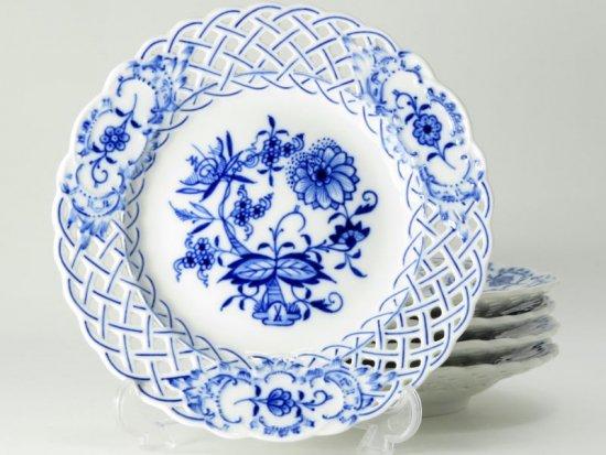 マイセン プレート■ブルーオニオン 透かし デザートプレート デザート皿 5枚セット Meissen 1級