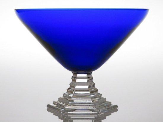 バカラ シャンパングラス ● オルセー シャンパンフルート コバルトブルー 青 碧 クリスタル 9cm Orsay