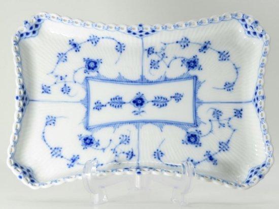 ロイヤルコペンハーゲン プレート■ブルーフルーテッド フルレース スクエアプレート 皿 1枚 四角形 1級